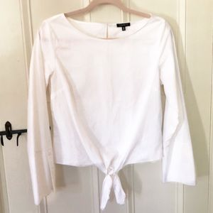 DYNAMITE white blouse